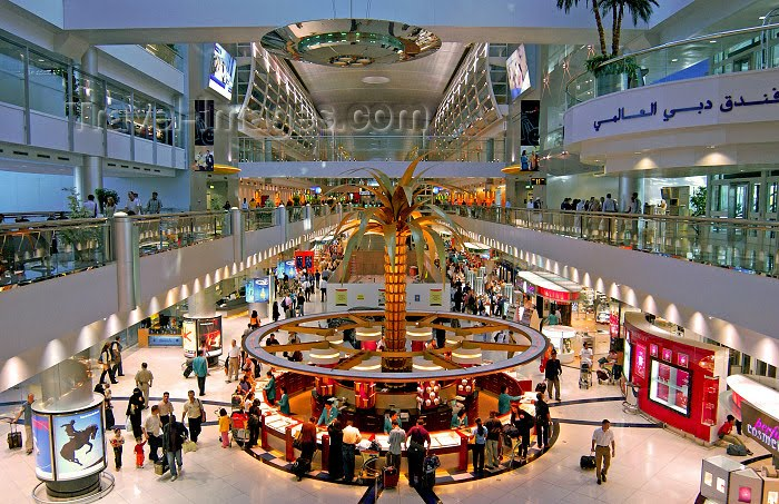 Souvenir Shopping at the Dubai Airport Dubai's spanking new airport has become a major international crossroads, with Emirates flights heading this way and that, from the far East to .
