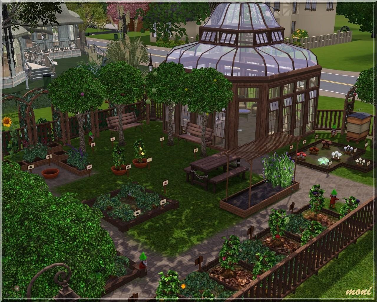 Arda sims small garden for Sims 4 balcony