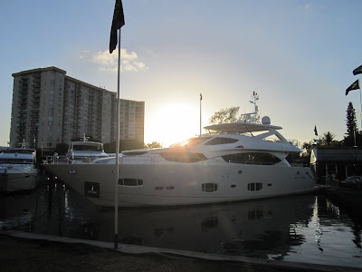 large super yacht at the Miami yacht and brokerage show