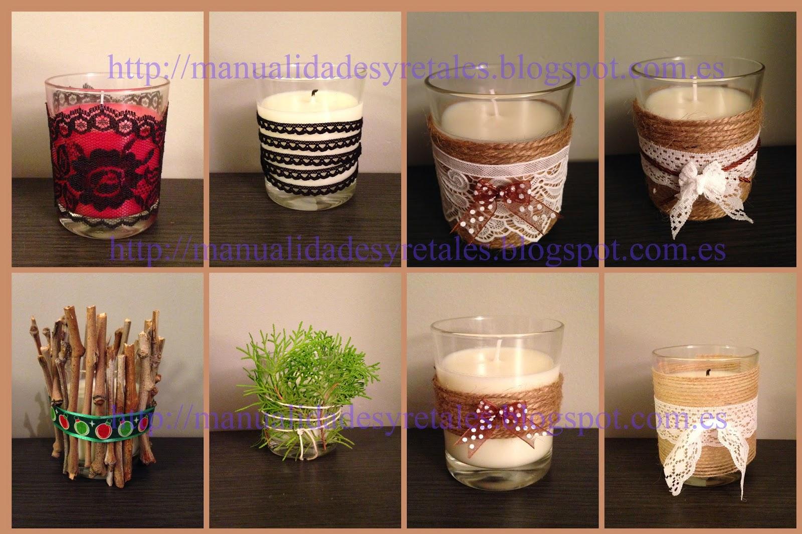Manualidades y retales velas decoradas - Velas decoradas para navidad ...