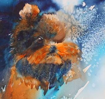 Watercolor by Olga Peregood
