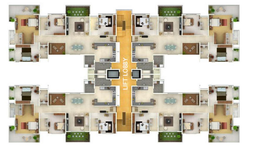 Awesome home design with plans 2 bhk and 3bhk flats at for 4 bhk home design