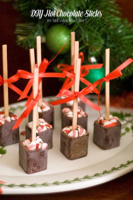 The Party Hop: Handmade Holiday DIY hot chocolate sticks