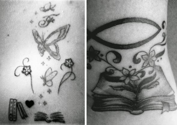 tatuagem livros magia