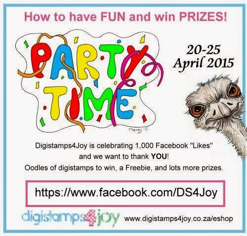 Party starting 20 April on Digi Stamps 4 Joy facebook
