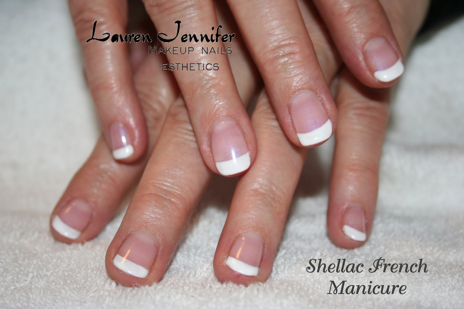 Shellac Manicure on Natural Nails.