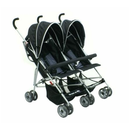 Amazoncom Dream On Me Double Twin Stroller Black Baby 2015