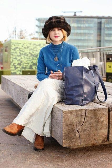 Street style - Look de saia comprida e camisola e chapeu