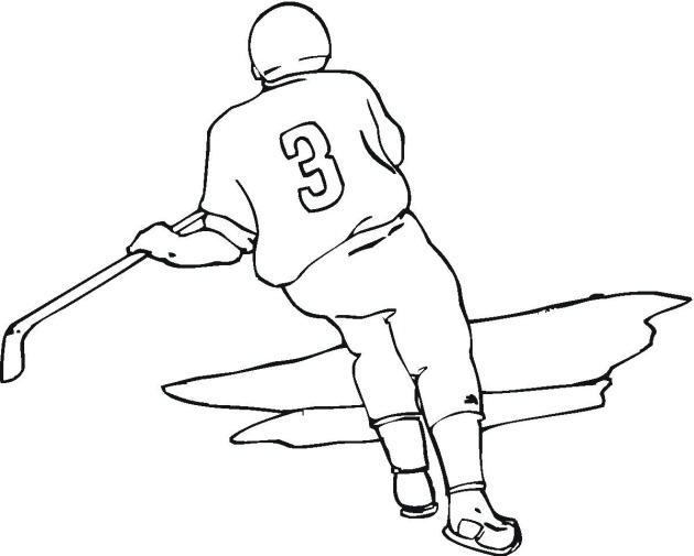 Coloring Pages Online Hockey Coloring Pages Hockey Coloring Page