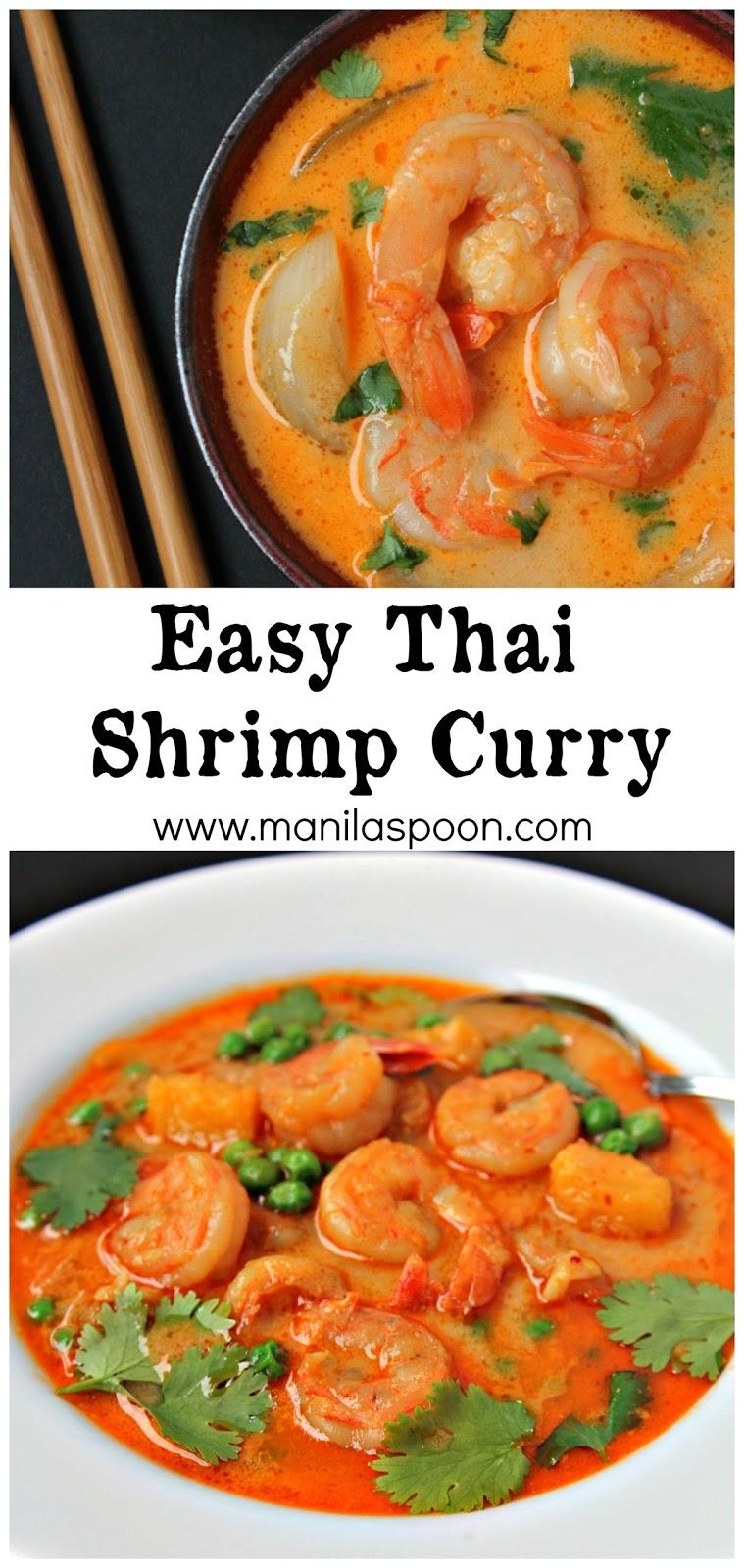 easy thai shrimp curry manila spoon