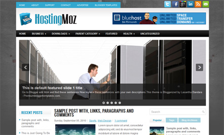 HostingMoz Blogger Template