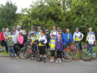 One of our family rides convening at Purwell meadows in 2012.