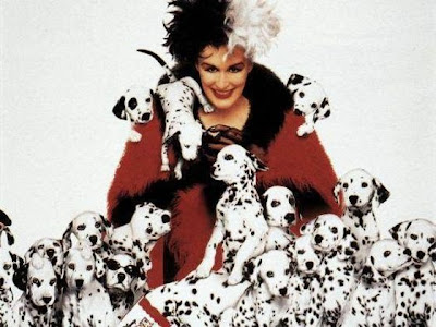 Cruella de Vil, dibujos animados, 101 dálmatas, Disney, Hollywood, Glenn Close