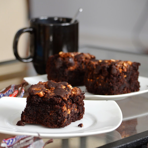 (Manly) Snickers Brownies