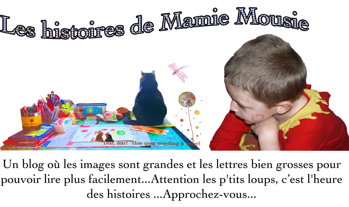 Grandma Mousie , Mamie Paisible ( stories for children)