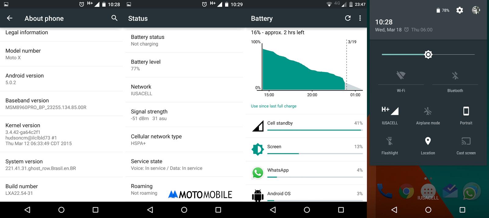 Moto X Lollipop Update