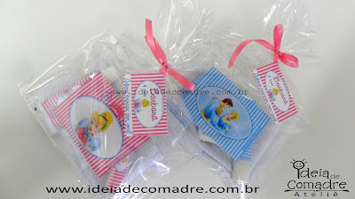 Lembrancinhas rosa - kit bucal