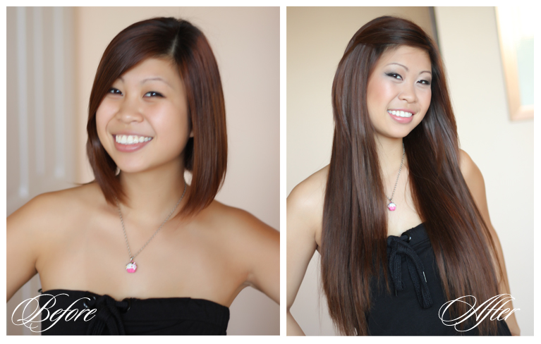 Before And After Pics Of Hair Extensions For Short Hair 121