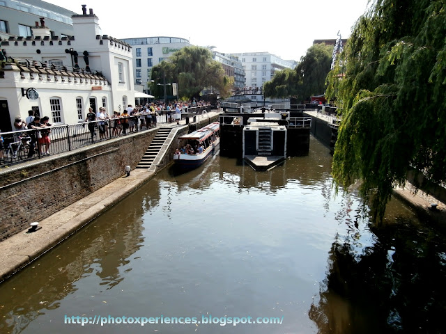 Camden Lock on Regent's Canal. Esclusa de Camden en el canal de Regent's.