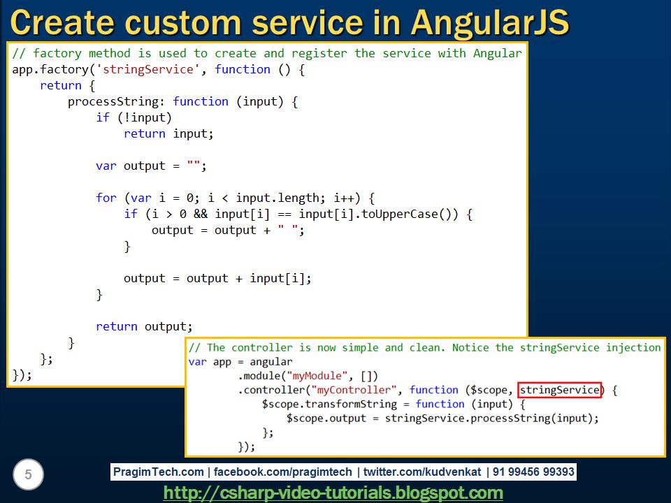 Creating custom service in angularjs