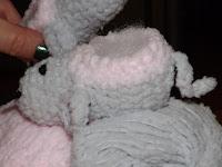 Escarpín o patuco de crochet