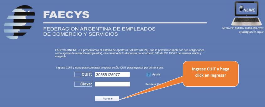 FAECYS-ONLINE - Le presentamos el sistema de aportes a FAECYS (0,5%)