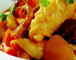 Món hải sản ngon, Món ngon với mực, Mực xào chua ngọt