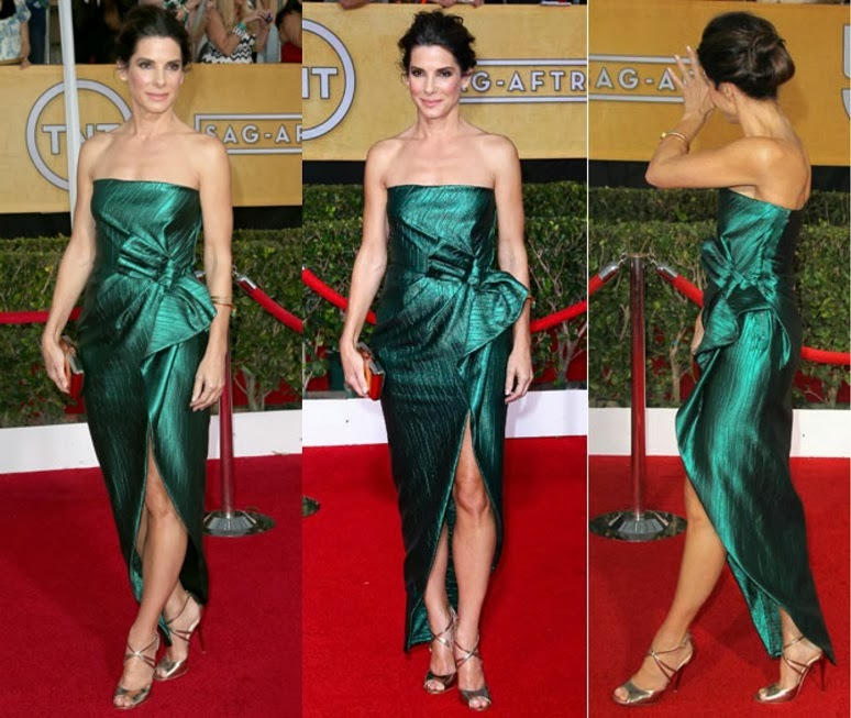 Lanvin emerald green dress