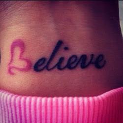 Cree en ti misma.