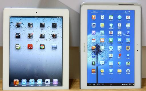 Apple iPad and Samsung Galaxy