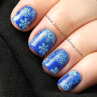 Glittery Blue Snowflakes