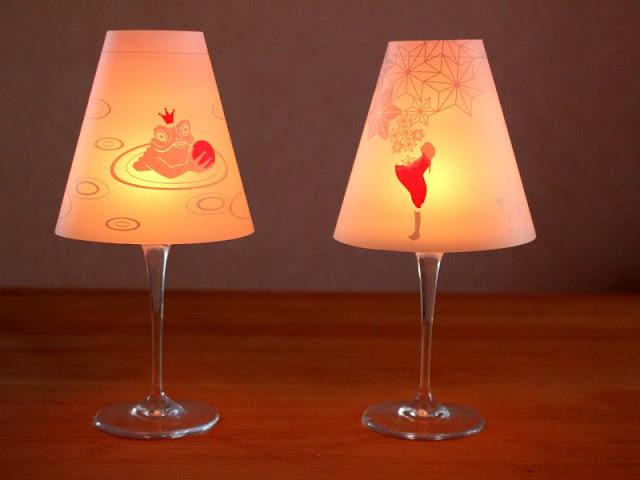 Lampenschirme für Weingläser