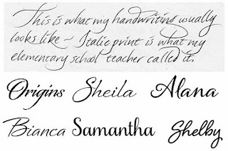 Cursive Handwriting Styles