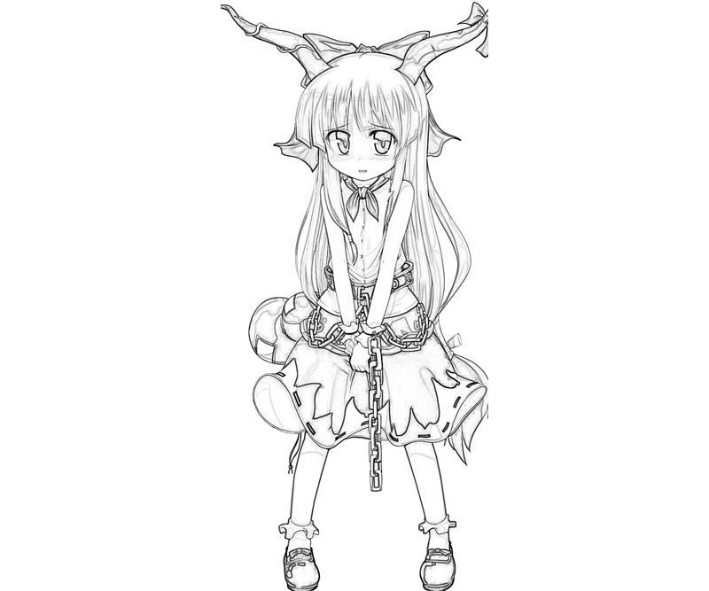 suika-ibuki-profil-coloring-pages