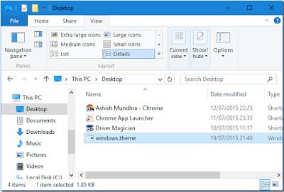 كيفية تغيير الوان شريط العنوان في ويندوز 10 بدون تحميل أي شئ