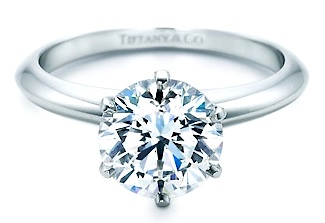 Tiffany Engagement Rings Round Diamante o Bril...