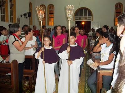 Imágem de Santa Luzia do Sitio Trincheiras visita a Matriz do Sagrado Coração de Jesus