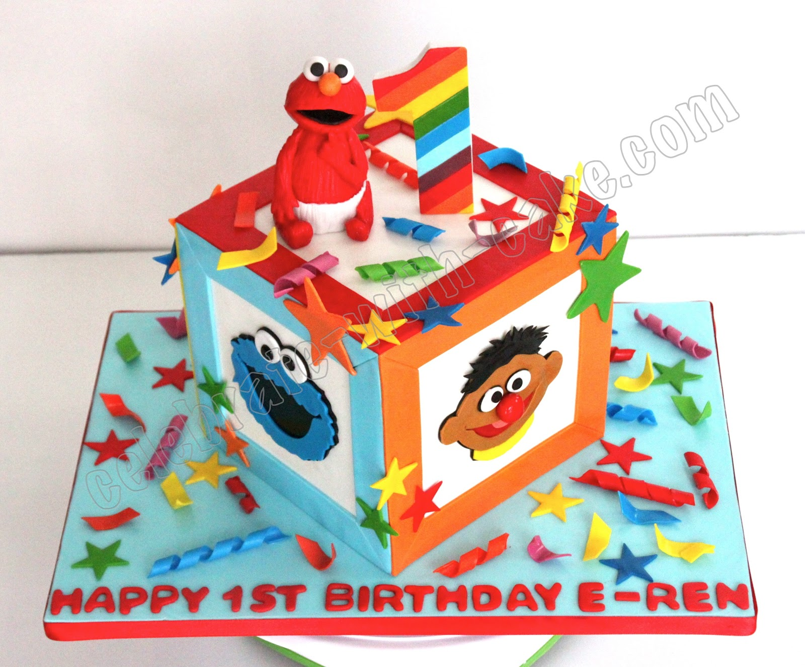 Celebrate with Cake Sesame Street Baby Block Cake