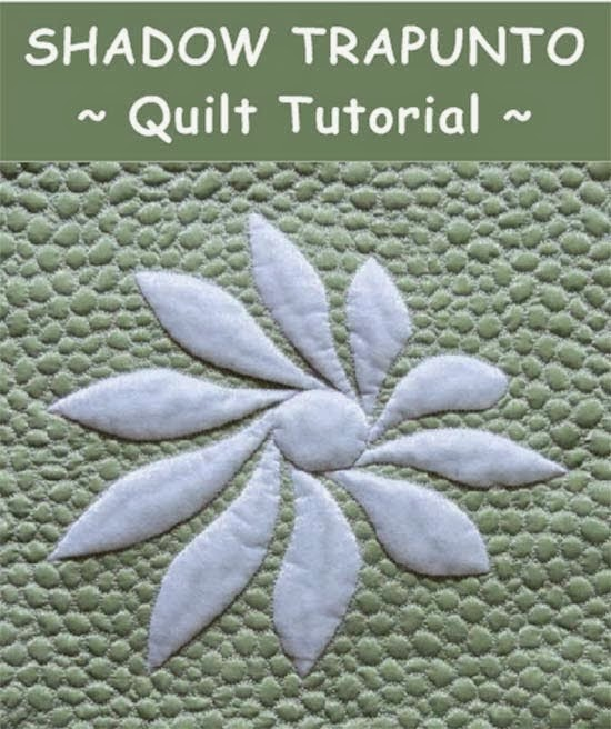 Shadow trapunto quilts tutorial