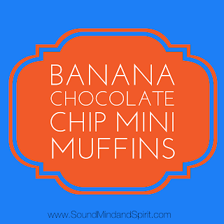 Banana Chocolate Chip Mini Muffin Recipe