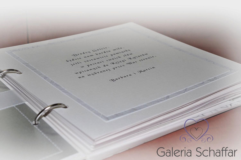 Eleganckie wnętrze księgi biały papier Fedrigoni galeria schaffar