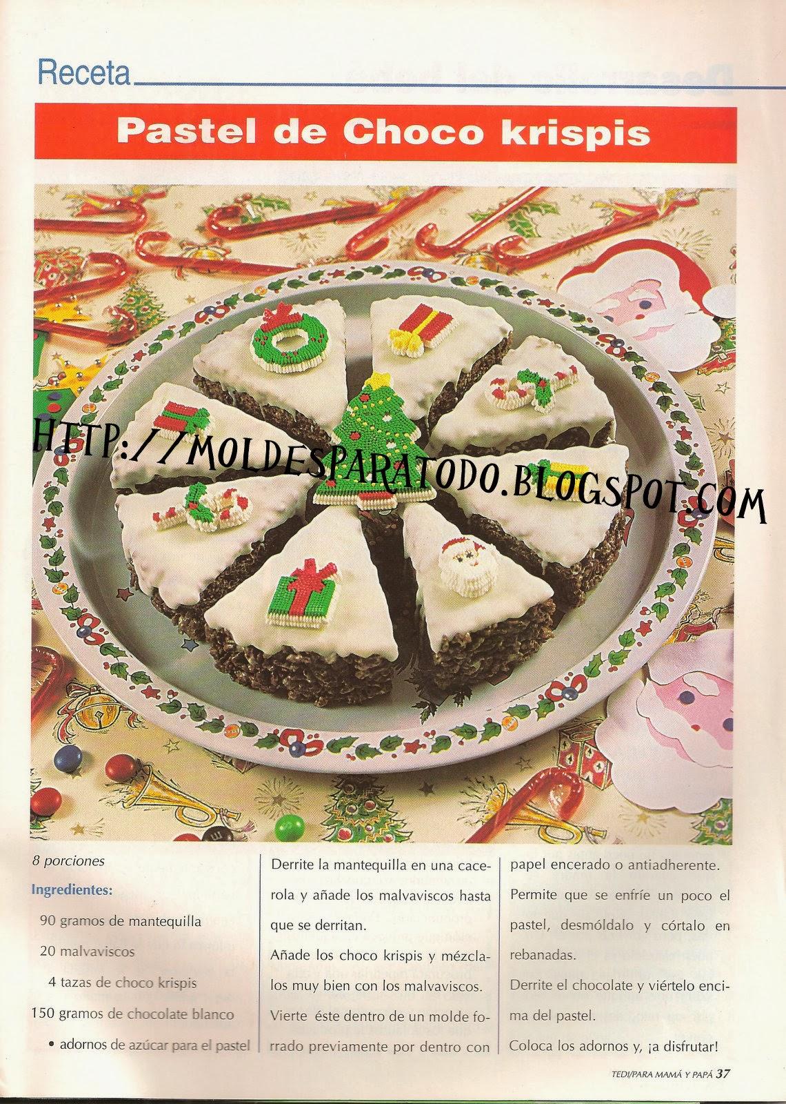 Fácil torta de choco crispis para Navidad!!!! Top-010