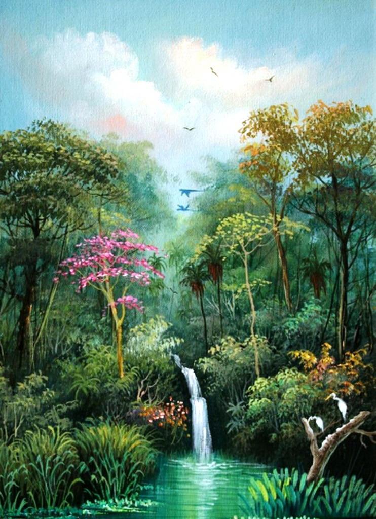 Pintura moderna y fotograf a art stica cuadros con for Imagenes de jardines exoticos