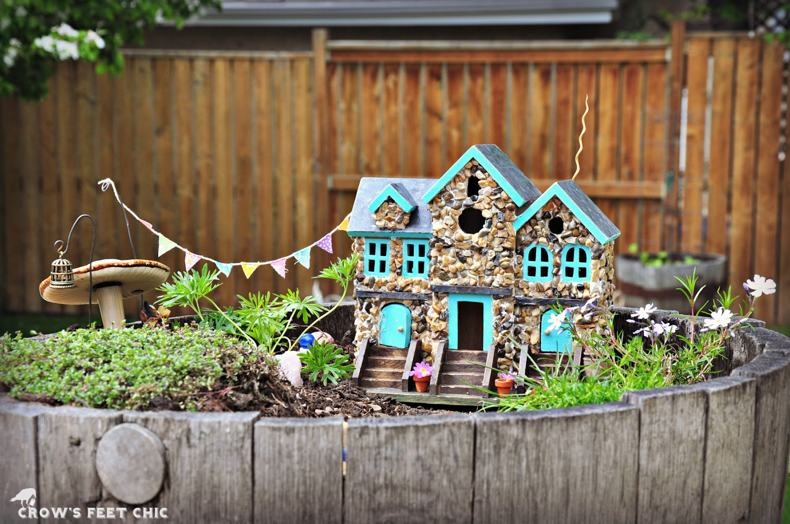 Our Fairy Garden Crows Feet Chic
