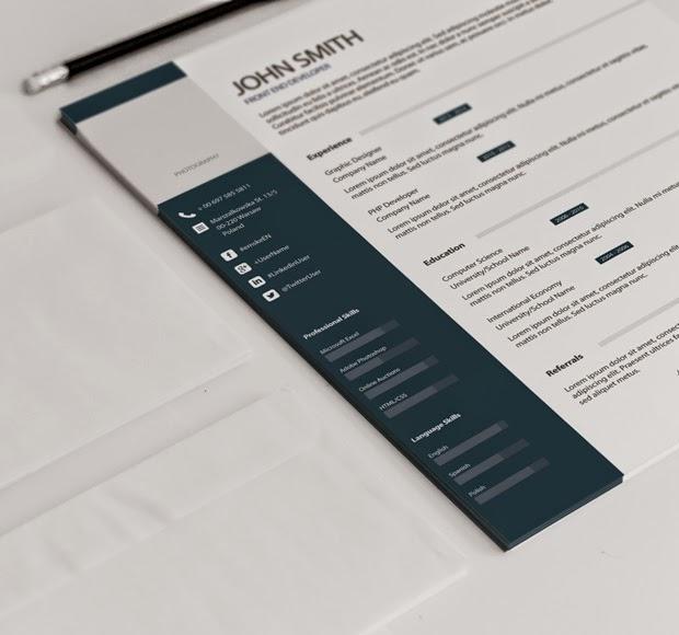 34 Free Professional Resume / CV PSD Templates | Tinydesignr