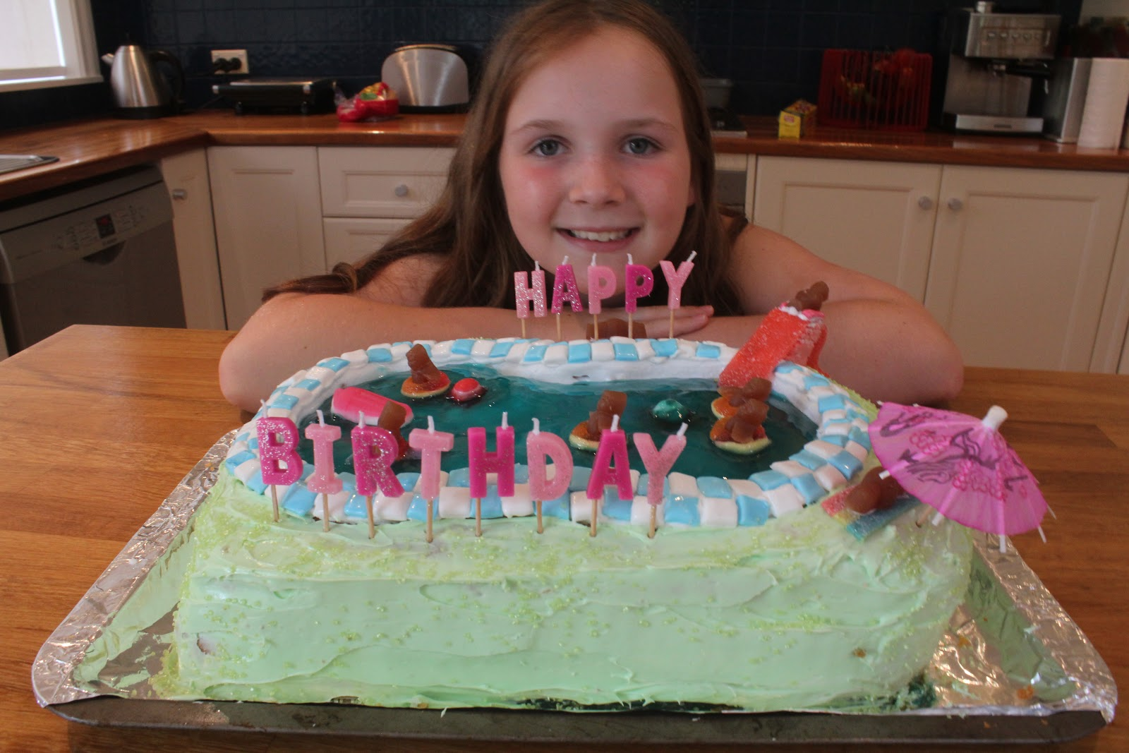 Birthday cakes for my lovelies Pool Party Gabis 9th Birthday