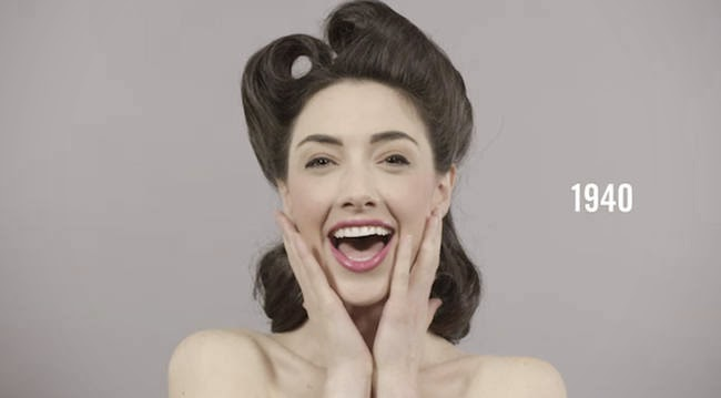 The swinging 1940s. - A Video Breaks Down 100 Years Of Beauty Trends In One Minute
