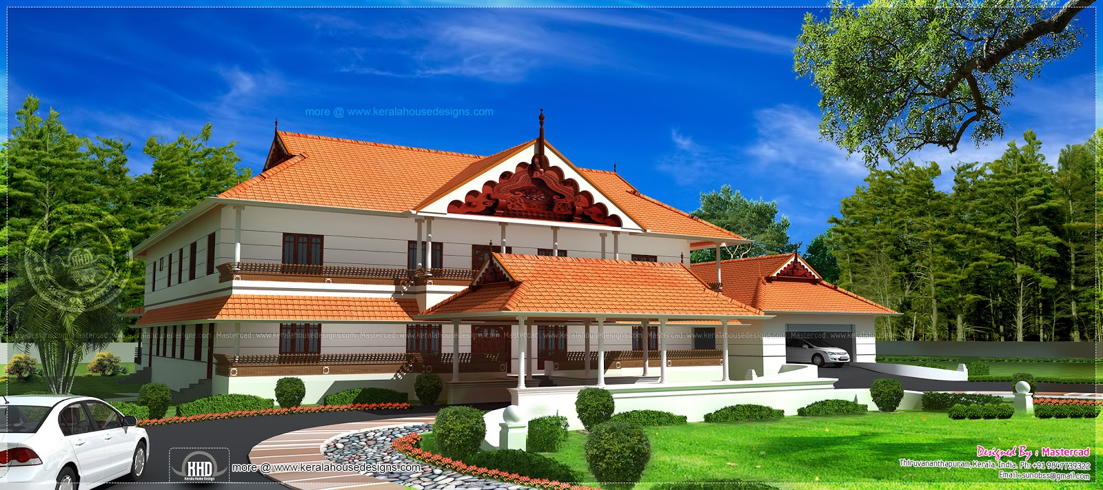 Kerala style super luxury house