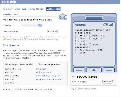 facebook text