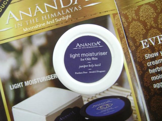 Ananda Spa Light moisturiser , June 2015 Fab Bag Review